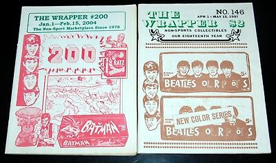 THE BEATLES 2pc The Wrapper Non Sports Card Guide Fanzine Magazine Lot 1997 2004