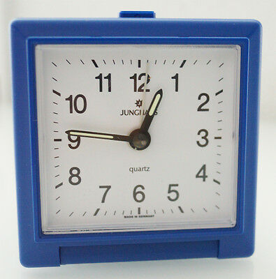 Alarm clock travel Junghans blue - Manufactured in Germany - housing plastic
