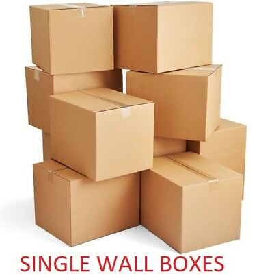 Quality Single Wall Postal Mailing Cardboard Boxes 4X4X4""