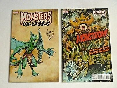 Monsters Unleashed #1 2 Variant Cover Lot Marvel Comics 2017