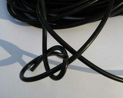 Conductive rubber tube-2 Metres Tens Estim 4mm o/dx1.75mm i/d (eight Clips)