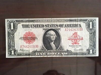 1923 $1 United States Note * Red Seal * Legal Tender * Large Size Note * RARE