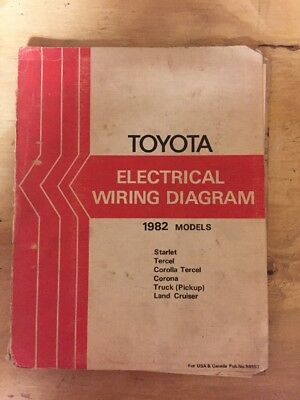1982 toyota land cruiser fj40 fj60 bj42 bj60 electrical wiring diagram  manual