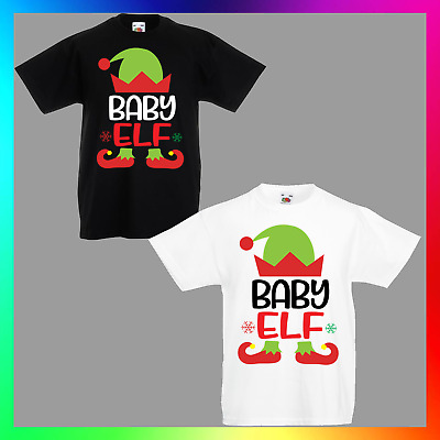 14bac595 Baby Elf TShirt T-Shirt Tee Kids Unisex Children Christmas Xmas Shark Cute  Funny