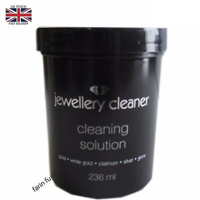 Jewellery Cleaner Cleaning Solution for Gold, White Gold Silver & Platinum BLACK