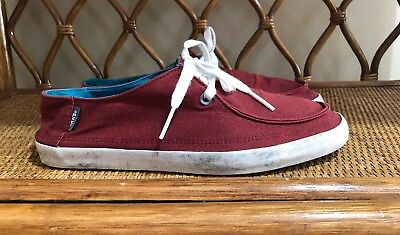 07f56a2a7111 VANS OFF THE Wall Original Surf Siders Sneaker Burgundy Men s Size ...