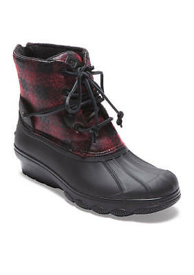 6e9ace2e9a78 SPERRY® SALTWATER WEDGE Tide Buffalo Check Duck Boot Women s Size ...