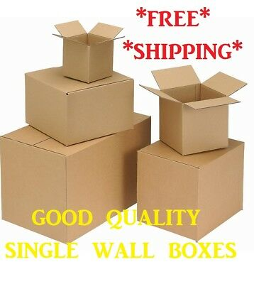 "Quality Single Wall Postal Mailing Cardboard Boxes 8""x 8""x 8"" Removal"