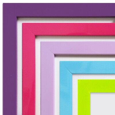 Photo Rainbow Poster Picture Frame Pink Purple Lilac Green Blue A3 A4 A5 A6