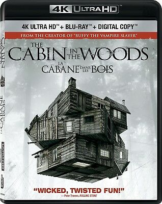 Cabin in the Woods [4K+Blu-ray] New and Factory Sealed!!