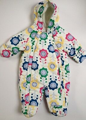 Ex M@S Baby girls floral snowsuit 0-24 months  2-3 years