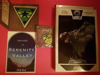 Loot Crate FIREFLY QMX Q-craft SERENITY Model with bonus patch/pin!