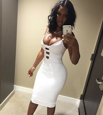 Sexy Women Bandage Bodycon Sleeveless Evening Party Cocktail Short Mini Dress N7