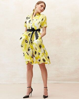 5d19000a416 NWT Kate Spade Sunny Daisy Organza Floral Shirtdress Yellow Party Dress  Size 10