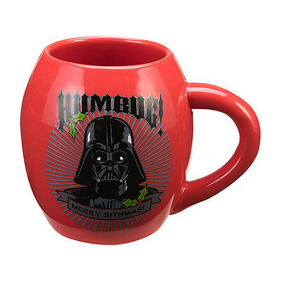 "Star Wars Darth Vader Oval Ceramic ""Humbug, Merry Sithmas"" Mug by Vandor NEW"