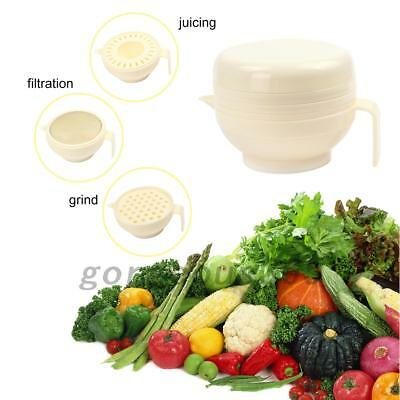 8 in 1 Set Baby Food Mill Grinding Bowl Grinder Processor Multifunction AU Local