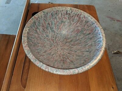 Vintage Texas Ware Gray Spatter Speckled Confetti Melmac Bowl #118