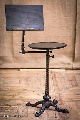Antique 19th Century Victorian Ebonised Adjustable Reading Table