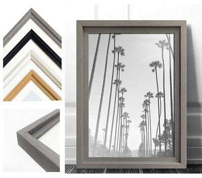 Photo Poster Picture Frame Hoxton Grey Black White Oak Wood Effect A3 A4 A5 A6