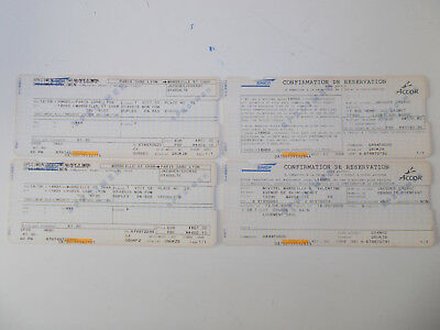 "Sncf - Lot De 4 Tickets "" Specimen ""  Titulaire  -  Jacques Chirac -"