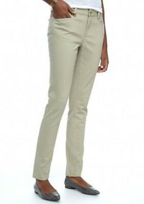 New Directions Weekend Soft Stretch Straight Jeans Pants GREY $54 Sizes 14 - 24
