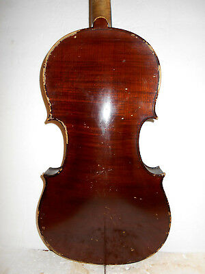"""Vintage Antique Old 1914 """"Chadwick - Amati"""" 1 Pc Back Full Size Violin - NR"""