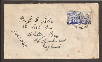 Mozambique. 1946 cover. Railroad station stamp.
