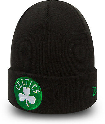 7d1584878dc Boston Celtics New Era NBA Équipe Essentiel Manchette Tricot Bonnet Noir