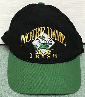 Vintage University of Notre Dame Fighting Irish Hat Black Green- Signature Brand
