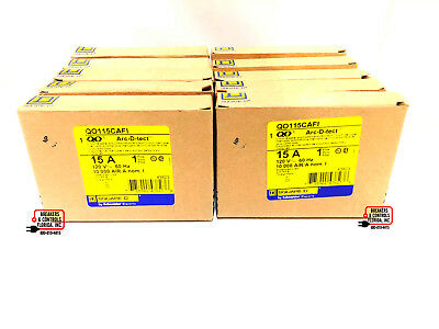 Qo115Cafi Square-D 1 Pole 15 Amp Combination Arc-Fault ( Lot Of 10 ) New In Box