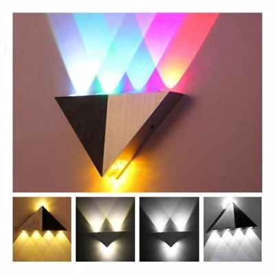 Triangle LED Wall Sconces Light Fixture for Bedroom Porch Hotel Canteen DIY Lamp