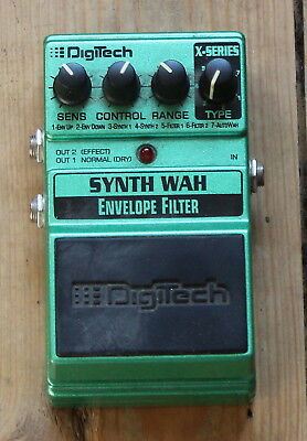Digitech X-Series XSW Synth Wah Envelope Filter Stomp Box Effects Pedal