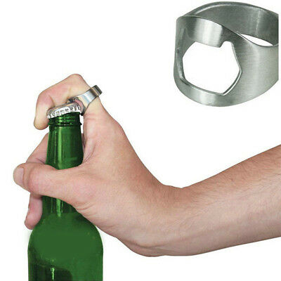 New Stainless Steel Finger Ring Bottle Opener Party Pub Bar Beer tool