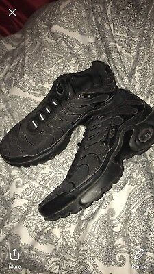 save off 1c7de 4a12c WOMENS NIKE TNS Triple Black Size 3.5