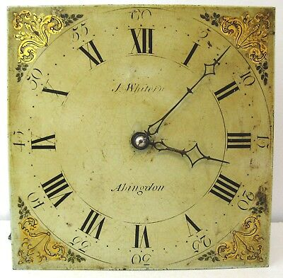 Grandfather Clock Dial & Movement - J Whitern - Abingdon - Circa 1790.