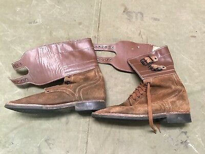 """6i WWII US M1943 M43 COMBAT FIELD """"DOUBLE BUCKLES"""" BOOTS- SIZE 12"""