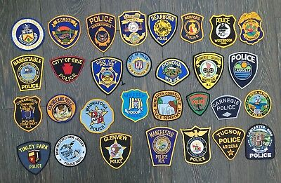 Collection of 30 old original various US Police shoulder patches