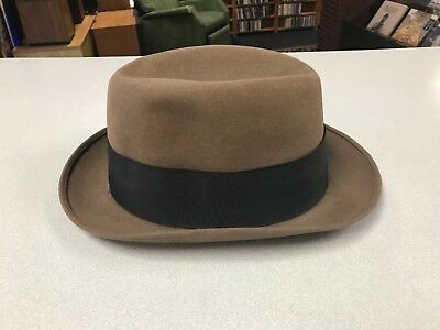 Dobbs Fifth Avenue 7 1/4 long oval vintage hat Joe Vaughan mens 1930s fedora