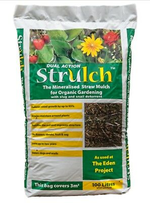 Strulch ® is a light and easy to use garden mulch made from wheat straw.