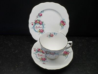Royal Vale English Bone China Trio Mother/mum Present Gift