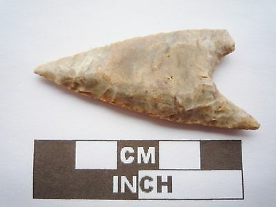 Neolithic Spearhead 54mm, Saharan Flint Artifact - 4000BC  (Q027)