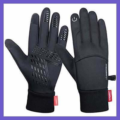 Anqier Winter Gloves,Cold Weather Windproof Thermal Touchscreen Gloves Men Women
