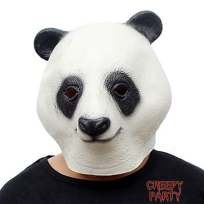 CreepyParty Novelty Halloween Costume Party Latex Animal Head Mask Giant Panda
