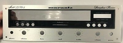 Marantz 2230b Faceplate receiver amp orig. replacement clean vintage EX!