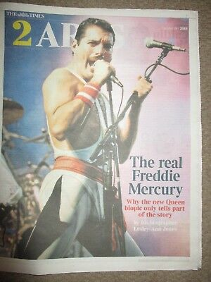 Queen Freddie Mercury The Times 2 Arts Cover Clippings Bohemian Rhapsody Promo