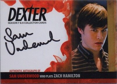 Dexter Seasons 7 & 8 Zach Hamilton (Sam Underwood) Autograph Card *Free S/H*