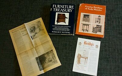 lot Volume 3 Wallace Nutting FURNITURE TREASURY 1933 Antique paper article 1984