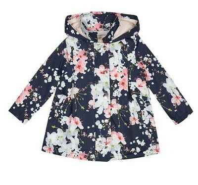 Ted Baker - 'Girls' navy floral print shower resistant jacket BNWT RRP £55