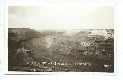 Eveleth MN Minnesota RPPC Postcard Iron Mine