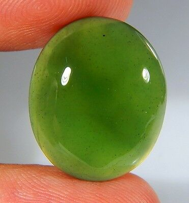 17 Ct Top Natural Green Emerald Color Serpentine Jade Oval Cabochon Gemstone A55